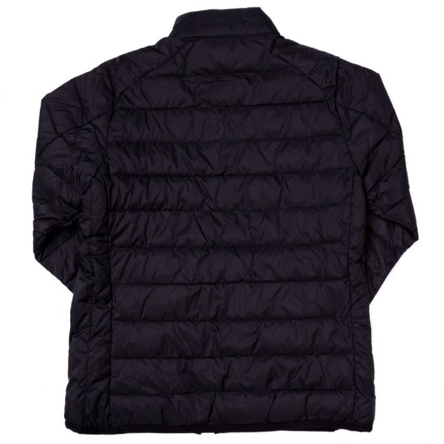 Boys Black Crossover Quilted Jacket