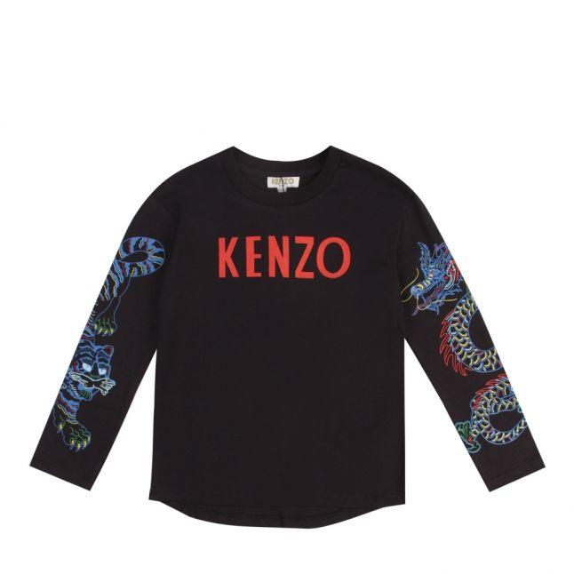 Junior Black Garth Japanese L/s T Shirt