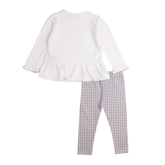Girls Cream/Grey Handbag Top & Leggings Set