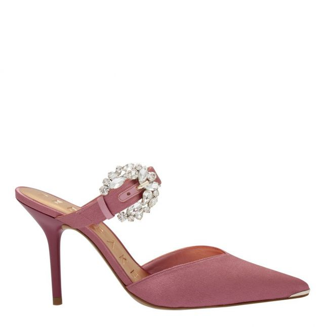 Womens Pink Dazzel Buckle Mule Courts