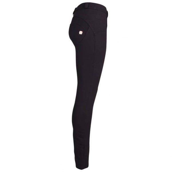 Womens Basic Black Mid Rise Skinny Jeans