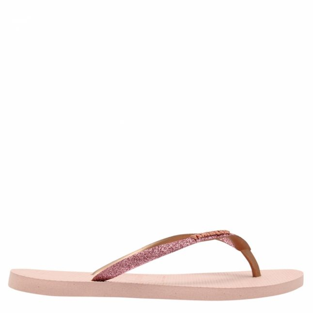 Womens Ballet Rose Slim Glitter Flip Flops