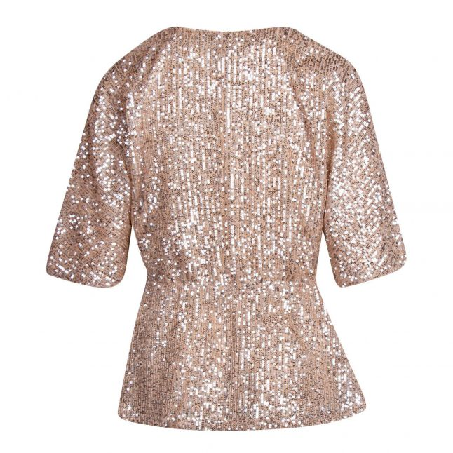 Womens Frosted Almond Vilyc Sequin Top