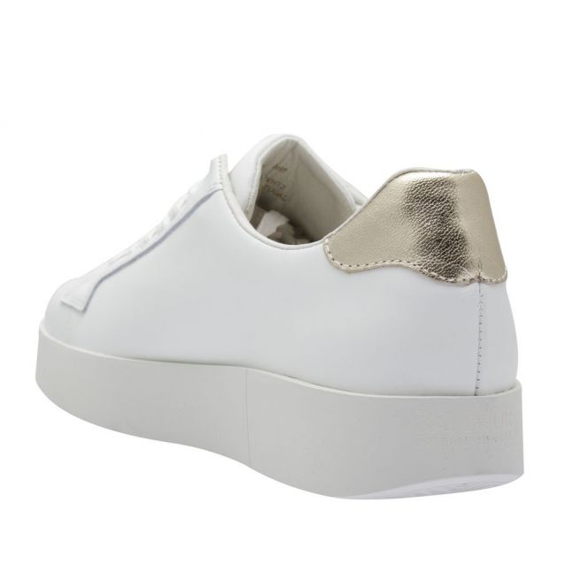 Womens White Bianca Trainers