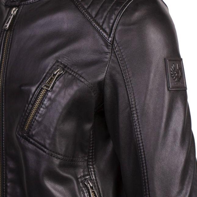 Mens Black V Racer 2.0 Leather Jacket