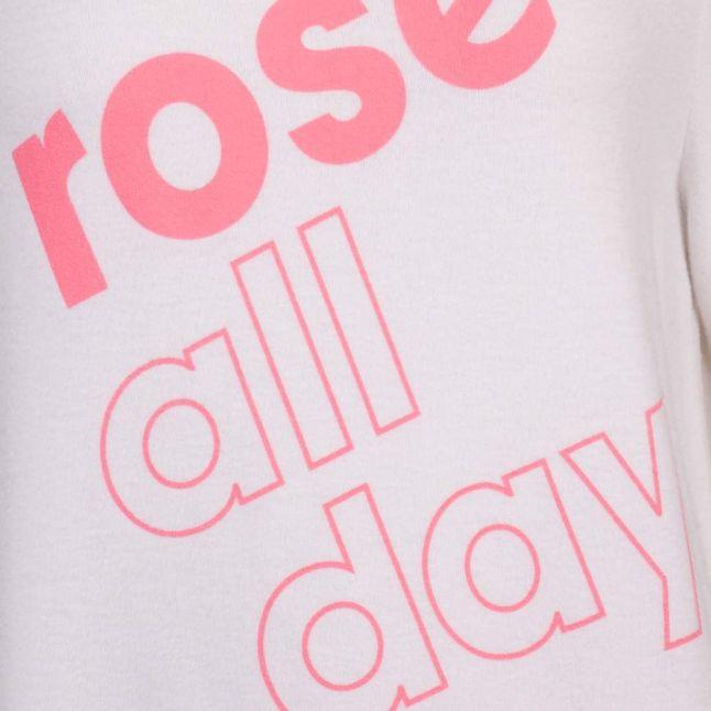Womens Clean White More Rosé Sweat Top