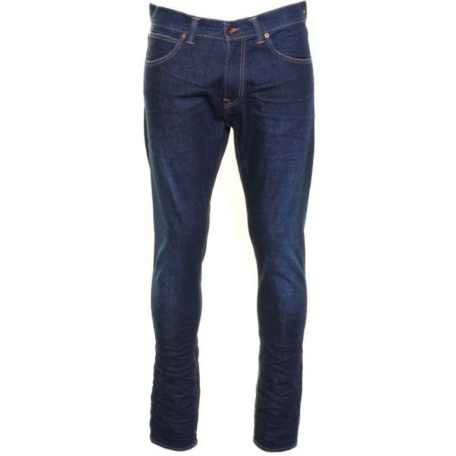 Mens 12.5oz F8.SO Blue Soak Wash ED-85 Slim Tapered Low Fit Jeans
