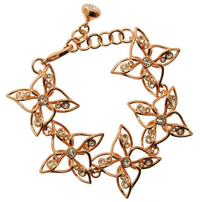 Womens Rose Gold & Crystal Cruuz Bracelet