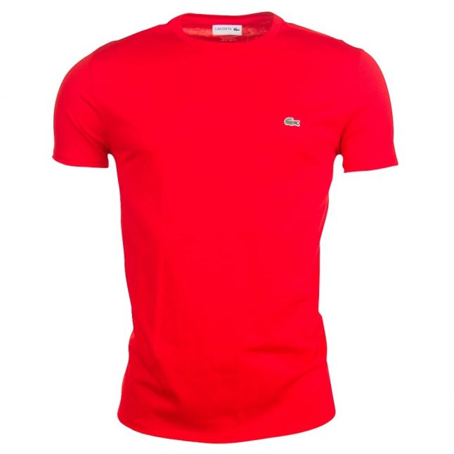 Mens Red Basic Regular Fit S/s Tee Shirt
