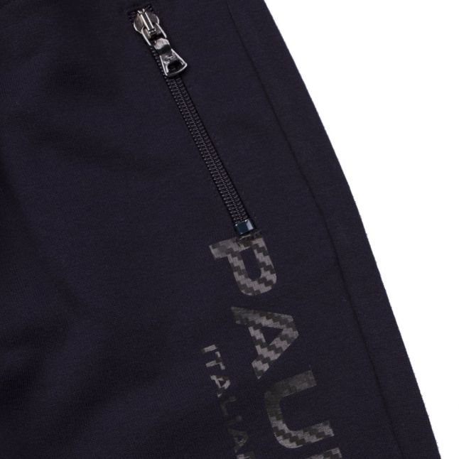 Boys Navy Branded Sweat Pants