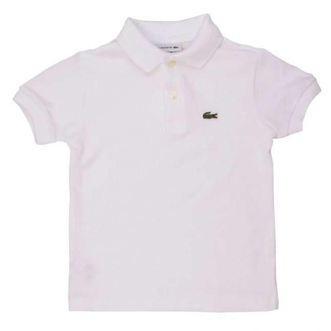 Boys White Classic Pique S/s Polo Shirt