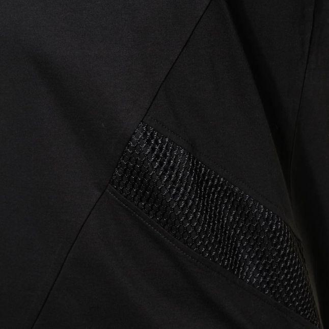 Mens Black Label Mesh Stripe S/s Tee Shirt