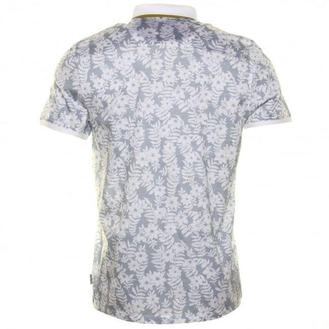 Mens White Bopp Floral S/s Polo Shirt