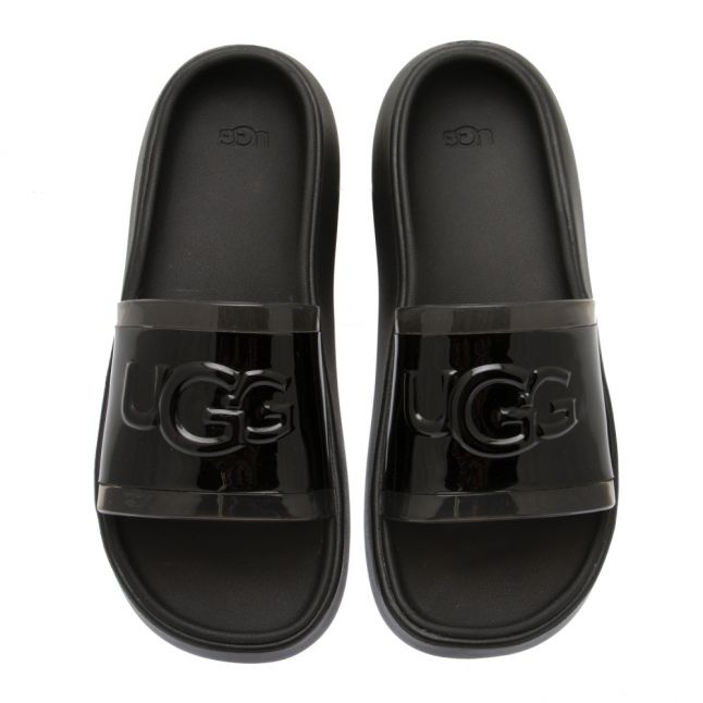 Womens Black Hilama Logo Slides