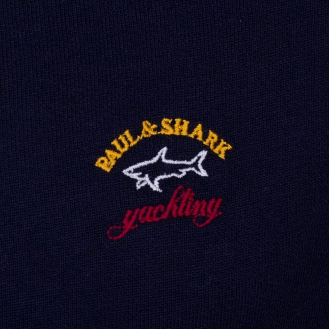 Paul & Shark Mens Navy Shark Fit Zip Through Sweat Top