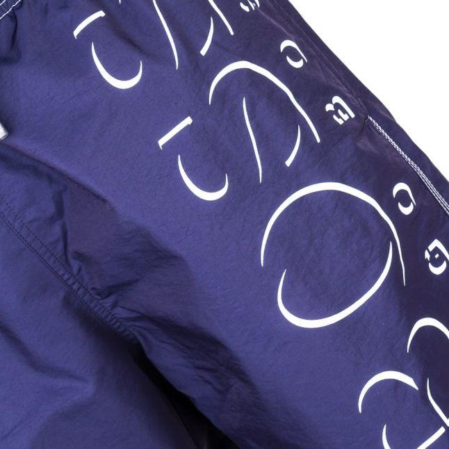 Boss Mens Navy Killifish Big Logo Swim Shorts