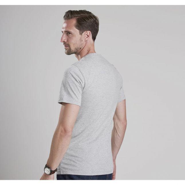 Mens Grey Marl International Small Logo S/s T Shirt
