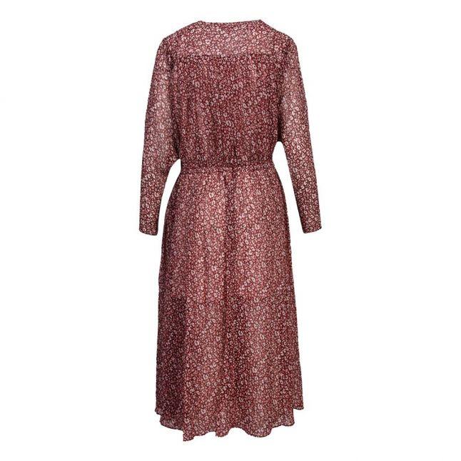 Womens Deep Purple Vallyy Draped Midi Dress