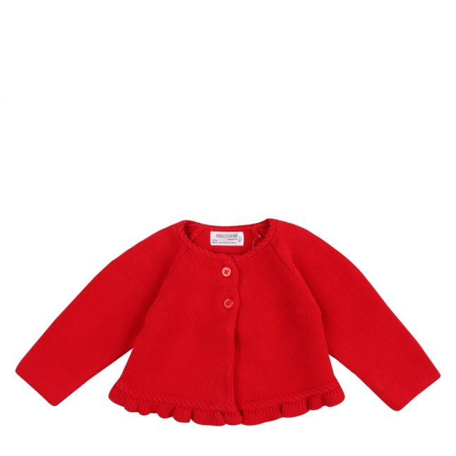 Baby Cherry Frill Knitted Cardigan