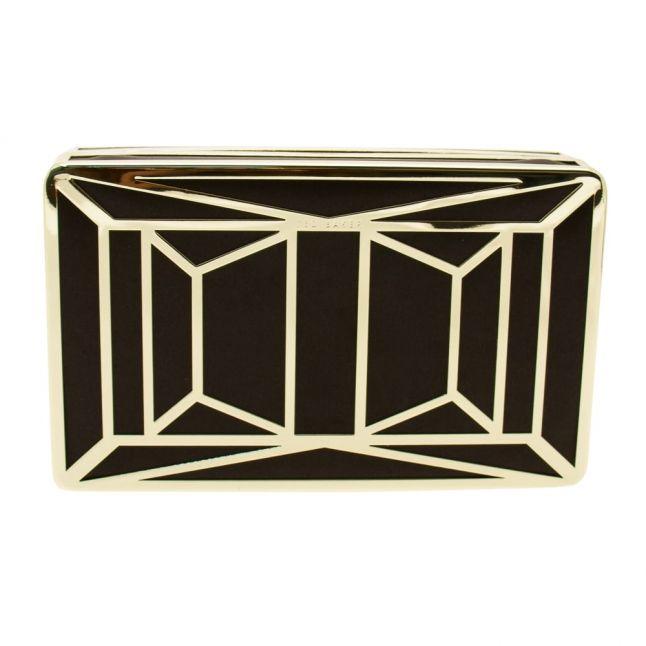 Womens Gold Janie Hardcase Clutch Bag