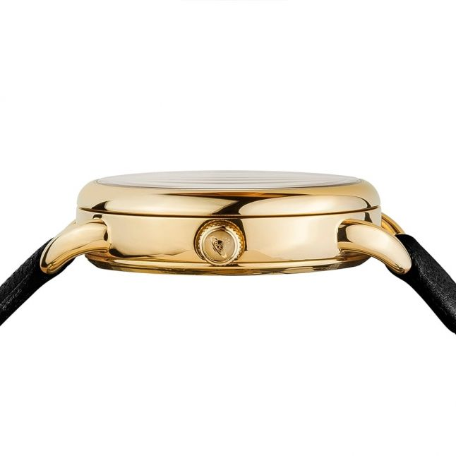Womens Black Leadenhall Leather Strap Watch