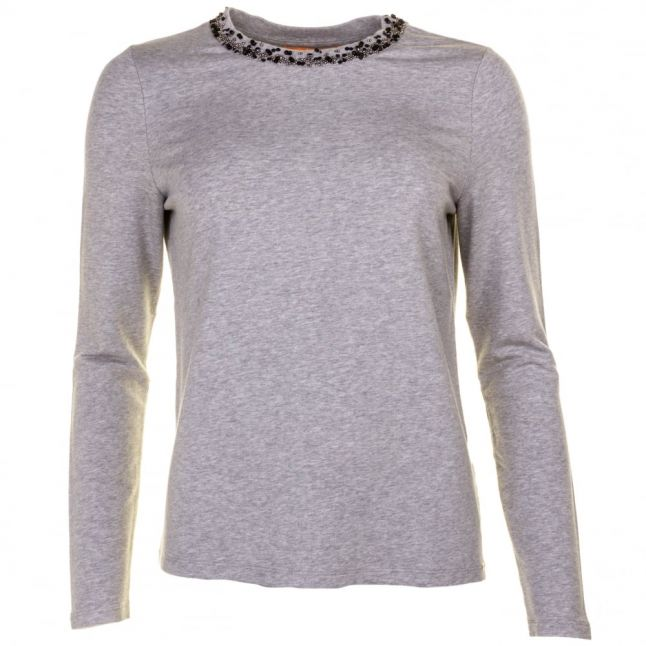 Boss Orange Womens Medium Grey Tacollar Top