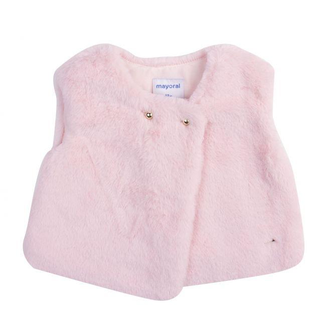 Mayoral Infant Rose Faux Fur Gilet