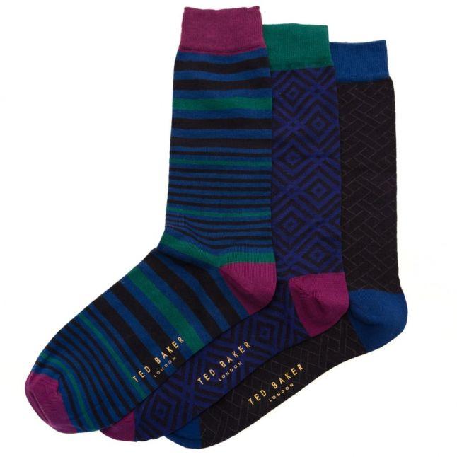 Mens Assorted Apply 3 Pack Socks Gift Set