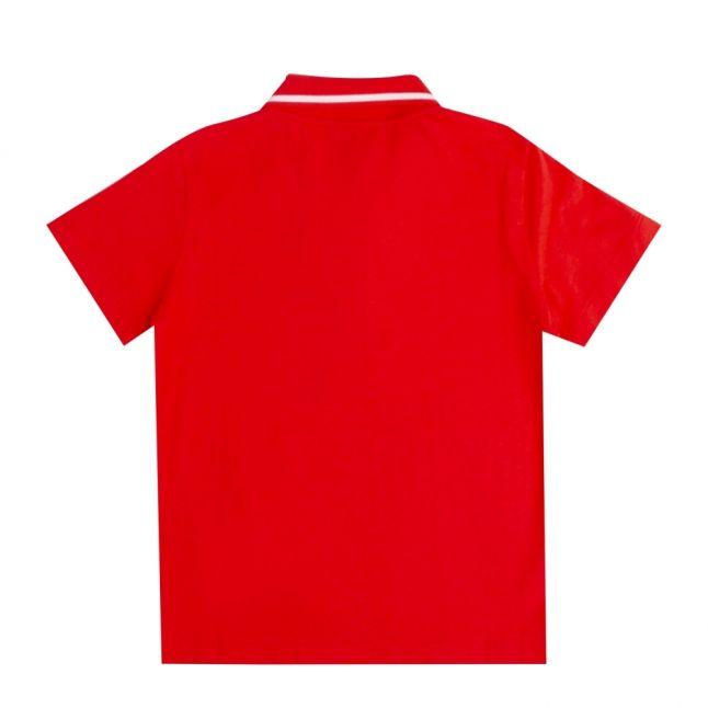Boys Poppy Red Train Core ID S/s Polo Shirt