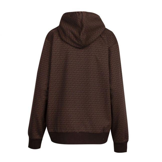 Womens Chocolate MK Dot Hooded Zip Through Sweat Top
