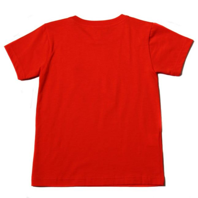 Boys Etna Red Classic Crew S/s Tee Shirt