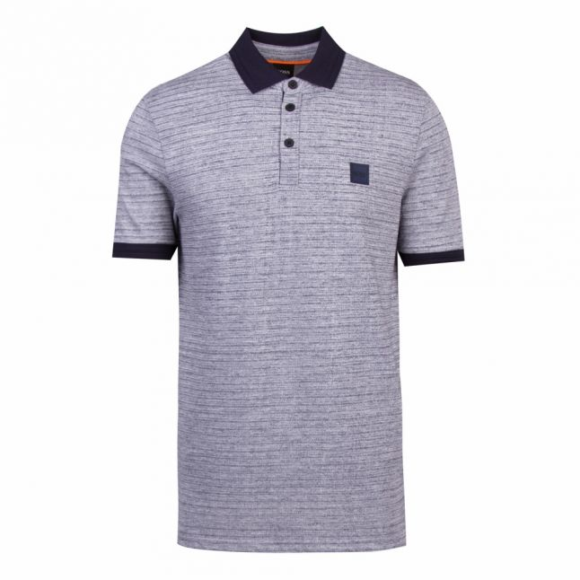 Casual Mens Dark Blue Pself S/s Polo Shirt