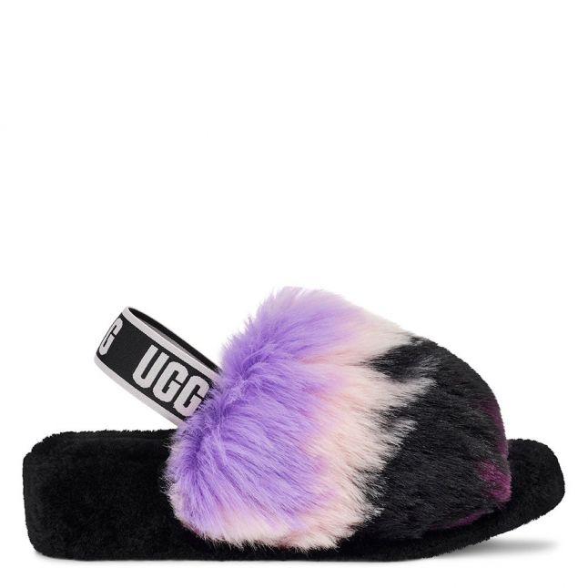 Womens Magnolia Purple Fluff Yeah Tie Dye Slippers