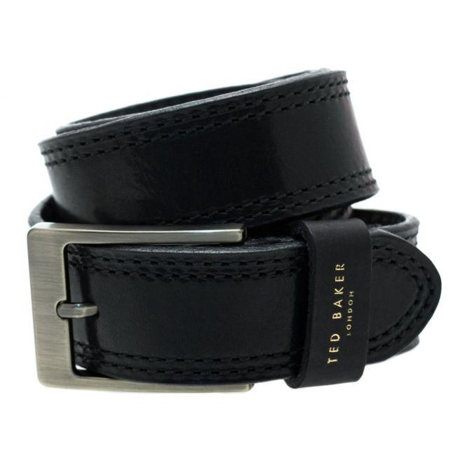 Mens Black Crikitt Stitch Belt