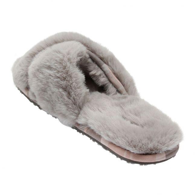 Womens Grey Lottie Crossover Slippers