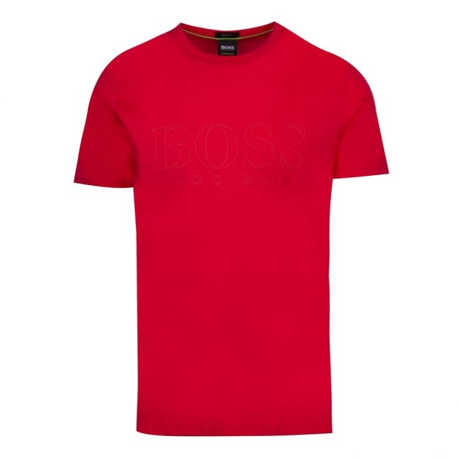 Athleisure Mens Red Teebo_N Tonal Logo S/s T Shirt