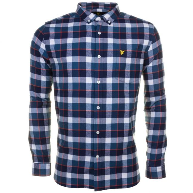 Mens Off White Check Flannel L/s Shirt