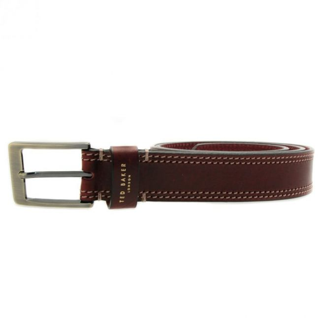 Mens Red Crikitt Stitch Belt