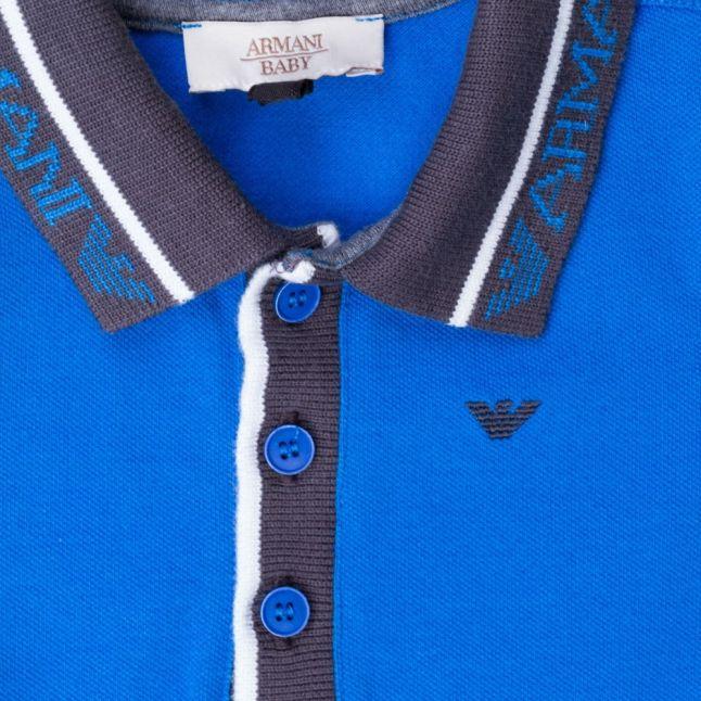 Baby Blue Logo Collar L/s Polo Shirt