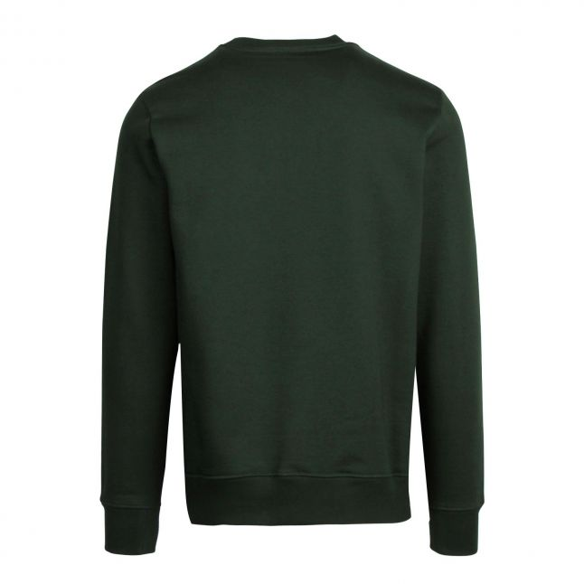 Mens Dark Green Classic Zebra Sweat Top