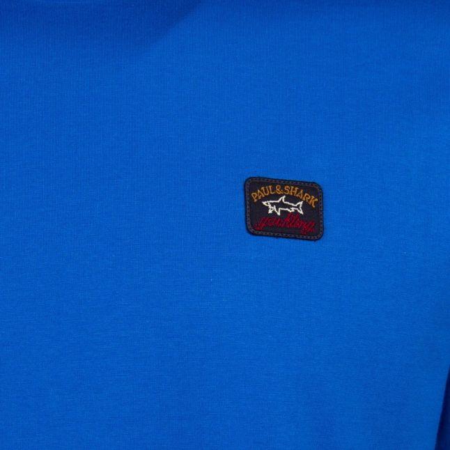 Mens Cobalt Blue Small Logo Custom Fit S/s T Shirt