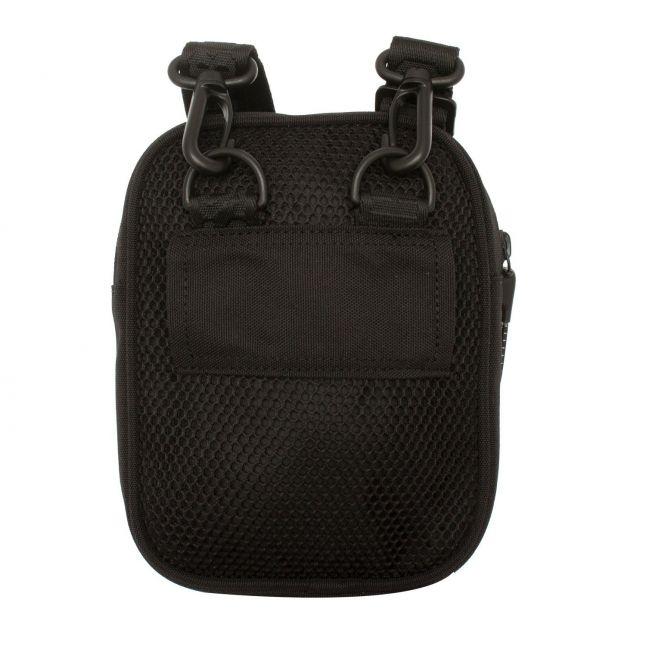 Boys Black Mesh Logo Small Crossbody Bag