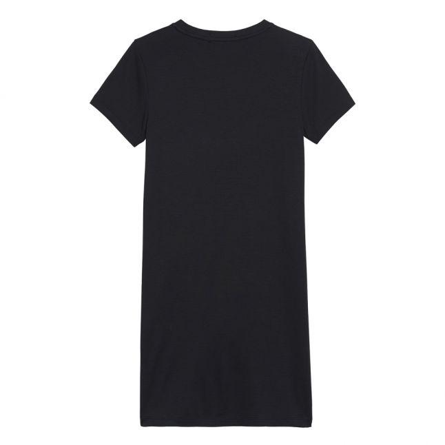 Girls Black Monogram Stripe T Shirt Dress
