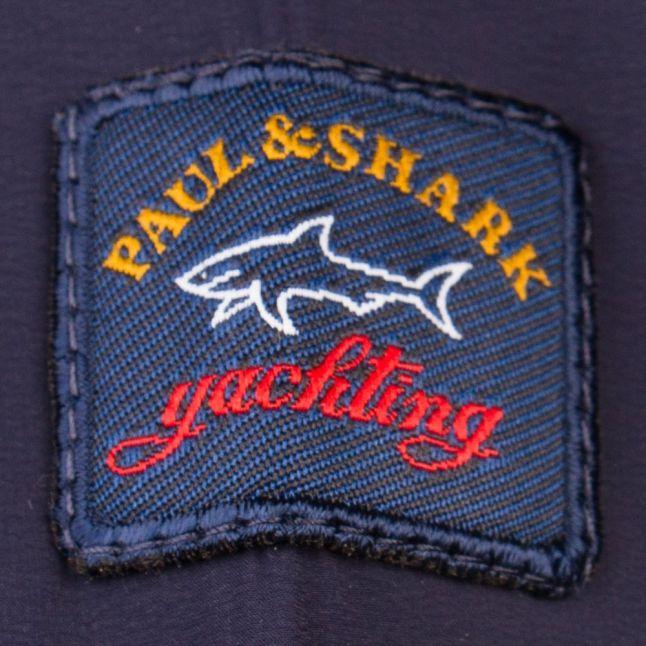Paul & Shark Mens Navy Branded Shark Fit Sweat Top