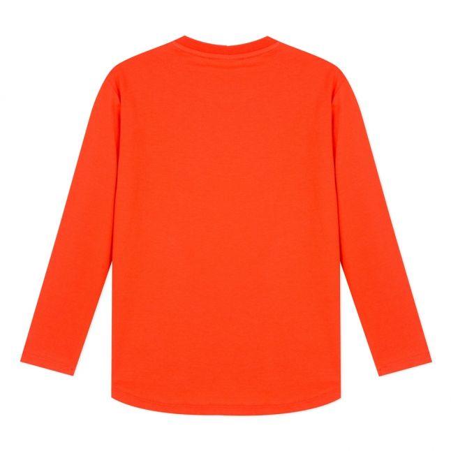 Junior Orange Tiger Japanese L/s T Shirt