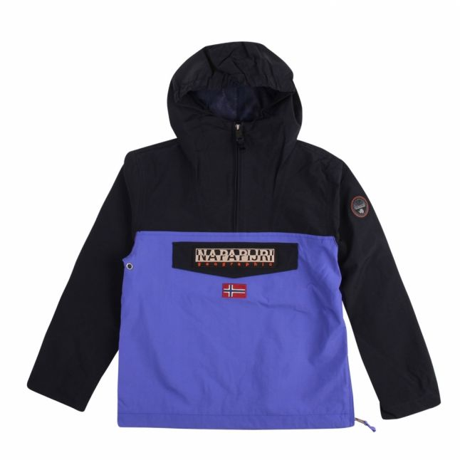 Kids Ultramarine Rainforest Colourblock Jacket
