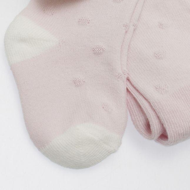 Baby Pink Polka Dot Tights