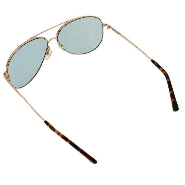 Womens Rose Gold & Teal Kendall Sunglasses