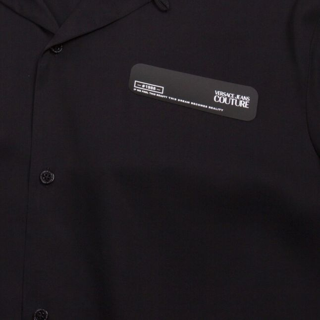 Mens Black Small Logo Casual S/s Shirt