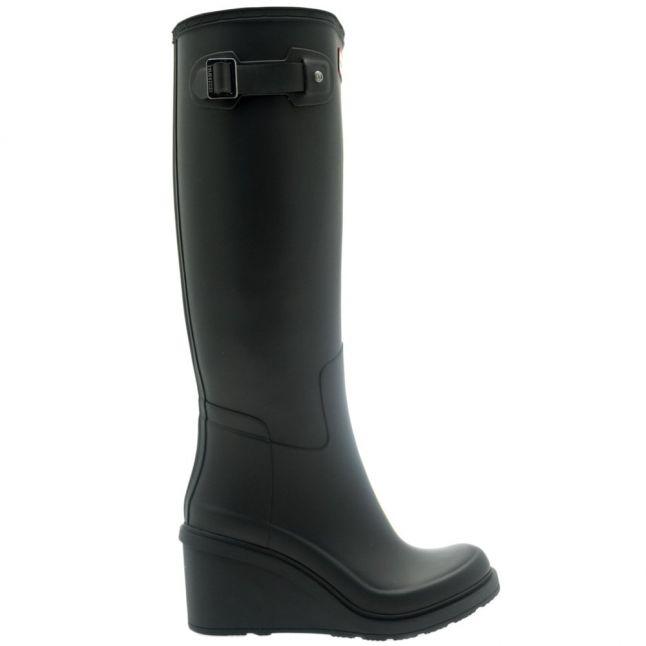 Womens Black Original Refined Wedge-Sole Wellington Boots